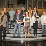 Branislav Brkic, Aleksandar Kelic i Ratko Teofilovic sa nagradjenim autorima Republicke Izlozbe fotografija 2016. godine