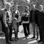 Moja malenkost sa koleginicama iz Panceva, Markom Granom i Djurica Jovanovim